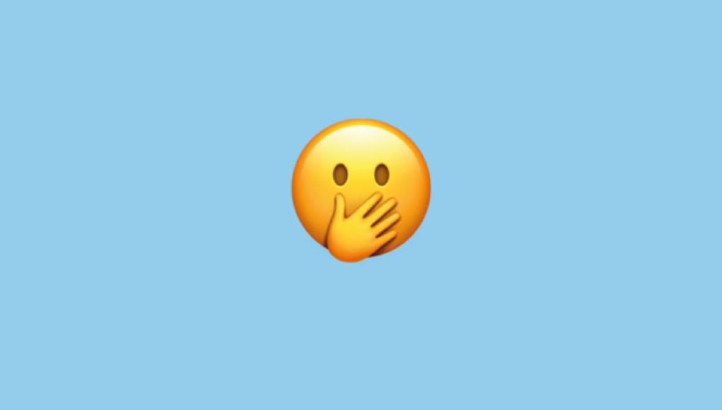 Emoji embarrassment